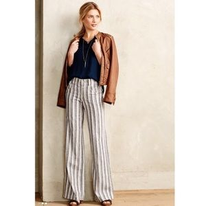 Anthropologie Pilcro striped Lenin pants! Size 6